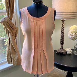 3for$20_New York & Company Peach Sleeveless Top XL